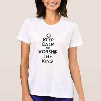 T-shirt Mantenha a calma & adore o rei