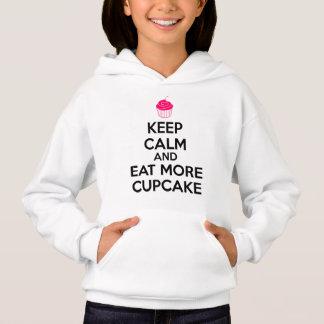 T-shirt Mantenha a calma e coma mais cupcake