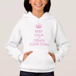 T-shirt Mantenha a calma e continue criam seu próprio rosa