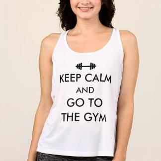 T-shirt Mantenha a calma e vá ao provérbio engraçado do