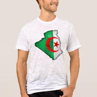 T-shirt Mapa da bandeira de Argélia para argelinos no