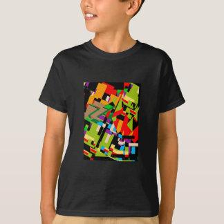 T-shirt masculino com design abstrato brilhante