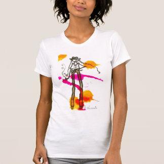 T-shirt menina do hipster