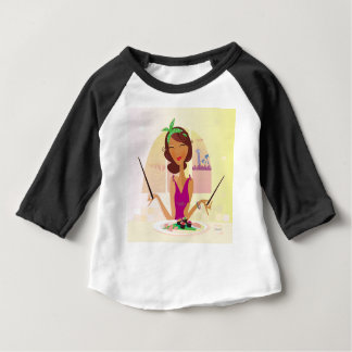 T-shirt Menina misteriosa ILUSTRADA de SURPRESA do SUSHI