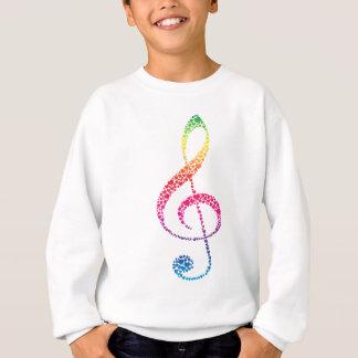 T-shirt Meu coração está na música (branca)