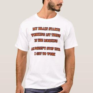 T-shirt Meus trabalhos de cérebro