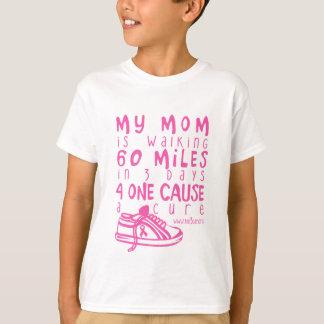 T-shirt Minha mamã está andando 60 milhas