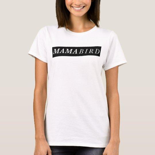 T-shirt moderno da mamã (Mama Pássaro)