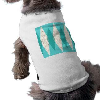 T-shirt moderno do cão de Argyle do meio século Camiseta
