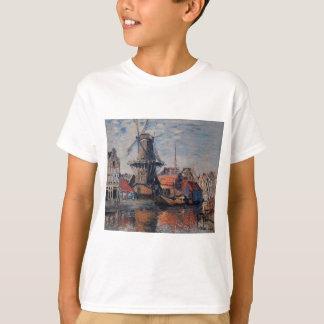 T-shirt Moinho de vento no canal de Onbekende, Amsterdão