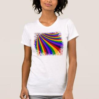 T-shirt Monte as listras coloridas da corrediça do