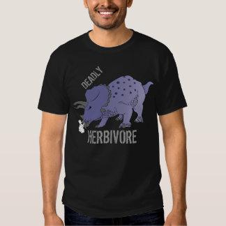 T-shirt MORTAL do Triceratops do HERBÍVORO