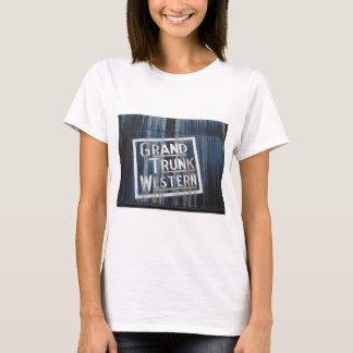 T-shirt Motor locomotivo da estrada de ferro ocidental
