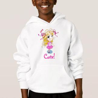 "T-shirt ""Muito bonito!"" Hoodie da menina do Anime/manga"