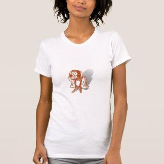 T-shirt Mulheres do macaco do vôo