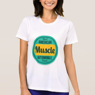 T-shirt Músculo americano. Vintage referente à cultura