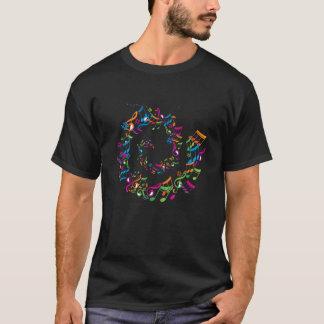 T-shirt Música do coração