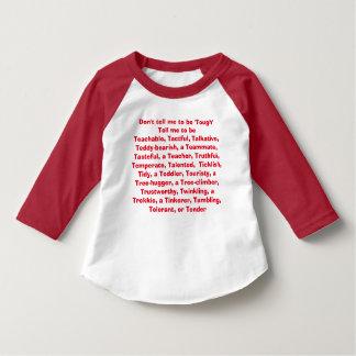 T-shirt Não me diga para ser resistente…