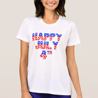 T-shirt O 4 de julho feliz