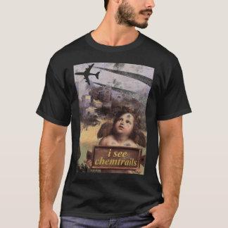 T-shirt O anjo em Madonna de Foligno considera chemtrails