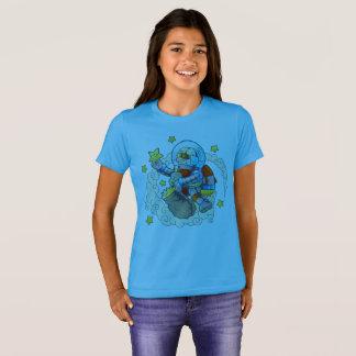 T-shirt o astronauta engraçado recolhe estrelas