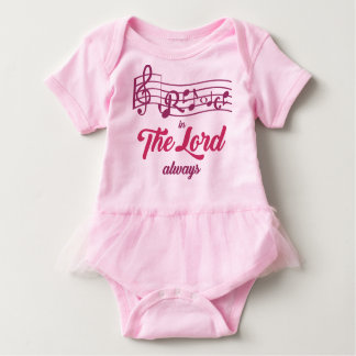 T-shirt O bebê exulta no senhor