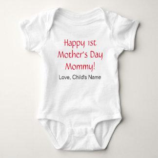 T-shirt Ø Bodysuit feliz do bebê do dia das mães