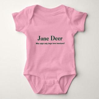 T-shirt O cervo de Jane, quem diz somente tratores do amor