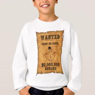 T-shirt o homem da neve quis o anúncio