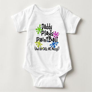 T-shirt O pai joga o Paintball