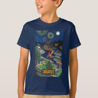 T-shirt O tamanho dos miúdos de Saugatuck (noite)