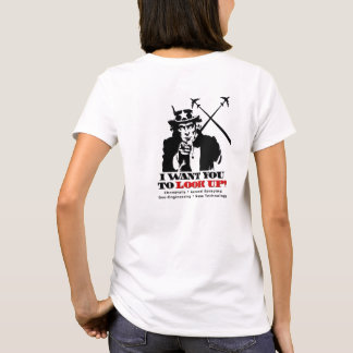 T-shirt O tio Sam diz a parada Chemtrails