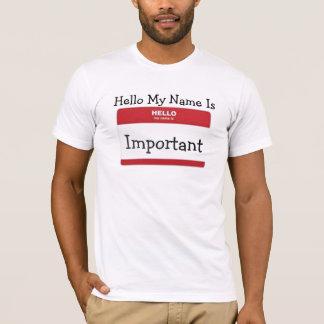 T-shirt olá! meu nome é…
