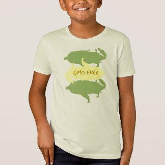 T-shirt orgânico do milho LIVRE de GMO