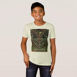 T-shirt orgânico do roupa americano dos miúdos
