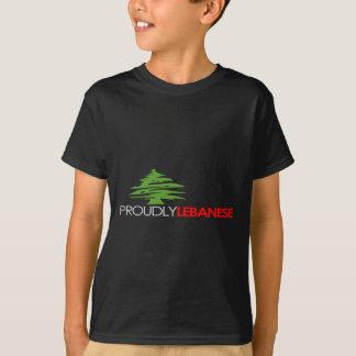 T-shirt Orgulhosa libanês, libanês e orgulhoso - Líbano