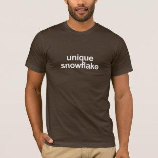 T-shirt original do floco de neve [escuro]
