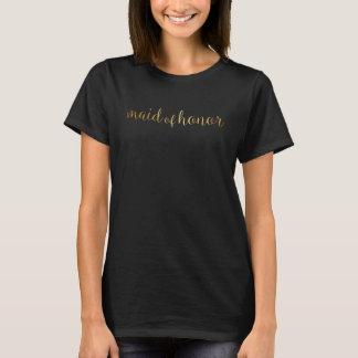 T-shirt - ouro da madrinha de casamento