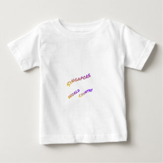 T-shirt País do mundo de Singapore, arte colorida do texto