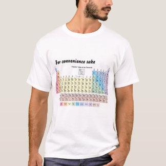 T-shirt para o químico: mesa periódica