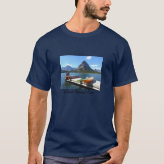 T-shirt Parque nacional de geleira dos barcos do lago