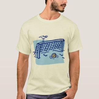 T-shirt Pássaro em um objetivo do pólo aquático