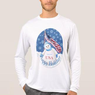 T-shirt patriótico do Natal para tropas