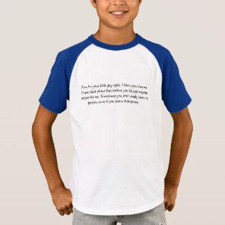 T-shirt Pense de seu/sua segurança