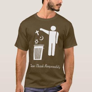T-shirt Pense por favor responsàvel