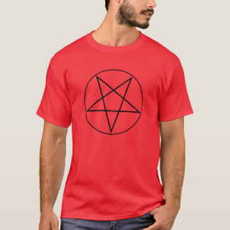 T-shirt Pentagram - preto