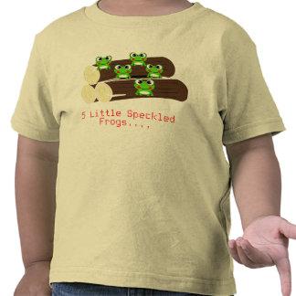 T-shirt pequeno de 5 sapos