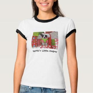 T-shirt pequeno do ajudante do papai noel