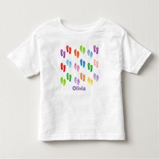 """T-shirt personalizado da criança dos """"chinelos"""""""