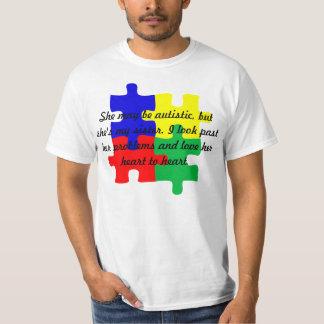 """T-shirt personalizado do autismo da """"irmã"""" nos"""